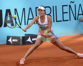 May 2, 2016 - Madrid, Spain - ANA IVANOVIC of Serbia in action during her match vs. L. Chirico at the Mutua Madrid Open. (Credit Image:   Christopher Levy via ZUMA Wire)  TENIS TURCJA  FOT.ZUMA/NEWSPIX.PL POLAND ONLY!!! --- Newspix.pl *** Local Caption *** www.newspix.pl  mail us: info@newspix.pl call us: 0048 022 23 22 222 --- Polish Picture Agency by Ringier Axel Springer Poland