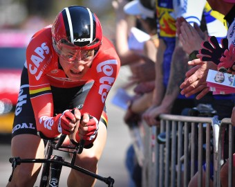 May 6, 2016 - Apeldoorn, THE NETHERLANDS - Belgian Tim Wellens of Lotto Soudal pictured in action during the first stage of the 99th edition of the Giro d'Italia cycling race, a 9,8 km individual time trial, on Friday 06 May 2016, in Apeldoorn, The Netherlands. BELGA PHOTO DAVID STOCKMAN (Credit Image: © David Stockman/Belga via ZUMA Press)  KOLARSTWO SZOSOWE GIRO ITALIA FOT. ZUMA/NEWSPIX.PL  POLAND ONLY !!! --- Newspix.pl *** Local Caption *** www.newspix.pl  mail us: info@newspix.pl call us: 0048 022 23 22 222 --- Polish Picture Agency by Ringier Axel Springer Poland