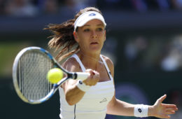 LONDON, July 10, 2015  Agnieszka Radwanska of Poland returns a ball to Garbine Muguruza of Spain during their women's semi-final match of the 2015 Wimbledon Championships at the All England Tennis Club in Wimbledon, southwest London, on July 9, 2015. Muguruza won 2-1.(Xinhua/Ye Pingfan) (Credit Image: © Ye Pingfan/Xinhua/ZUMA Wire)  FOT. ZUMA/NEWSPIX.PL POLAND ONLY! --- Newspix.pl *** Local Caption *** www.newspix.pl  mail us: info@newspix.pl call us: 0048 022 23 22 222 --- Polish Picture Agency by Ringier Axel Springer Poland