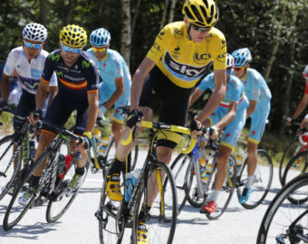 July 25, 2015 - Alpe D'Huez, FRANCE - 20150725 - ALPE D'HUEZ, FRANCE: Colombian Nairo Quintana of Movistar Team, Spanish Alejandro Valverde of Movistar Team and British Chris Froome of Team Sky pictured in action during stage 20 of the 2015 edition of the Tour de France cycling race, 110,5 km from Modane to Alpe d'Huez, France, Saturday 25 July 2015. This year's Tour de France is taking place from 4 to 26 July. BELGA PHOTO YUZURU SUNADA (Credit Image:   Yuzuru Sunada/Belga via ZUMA Press via ZUMA Press)  KOLARSTWO WYSCIG FOT.ZUMA/NEWSPIX.PL POLAND ONLY!!! --- Newspix.pl *** Local Caption *** www.newspix.pl  mail us: info@newspix.pl call us: 0048 022 23 22 222 --- Polish Picture Agency by Ringier Axel Springer Poland