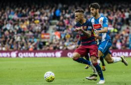 May 8, 2016 - Barcelona, Catalonia, Spain - FC Barcelona forward NEYMAR JR. in action in the BBVA league match between FC Barcelona and RCD Espanyol at the Camp Nou stadium in Barcelona (Credit Image: © Matthias Oesterle via ZUMA Wire)  FOT. ZUMAPRESS.com / NEWSPIX.PL  POLAND ONLY !!! --- Newspix.pl *** Local Caption *** www.newspix.pl  mail us: info@newspix.pl call us: 0048 022 23 22 222 --- Polish Picture Agency by Ringier Axel Springer Poland