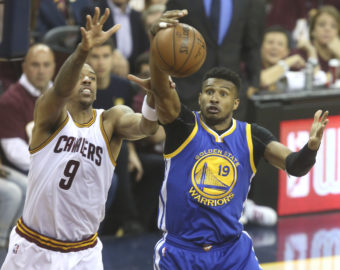 June 8, 2016 - Cleveland, OH, USA - The Cleveland Cavaliers' Channing Frye (9) and the Golden State Warriors' Leandro Barbosa battle for a second-quarter rebound during Game 3 of the NBA Finals on Wednesday, June 8, 2016, at Quicken Loans Arena in Cleveland. (Credit Image: © Phil Masturzo/TNS via ZUMA Wire)  FOT. ZUMAPRESS.com / NEWSPIX.PL  POLAND ONLY !!! --- Newspix.pl *** Local Caption *** www.newspix.pl  mail us: info@newspix.pl call us: 0048 022 23 22 222 --- Polish Picture Agency by Ringier Axel Springer Poland