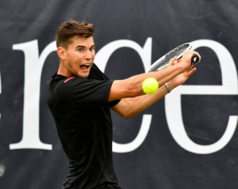 13.06.2016, Tennisclub Weissenhof, Stuttgart, GER, ATP Tour, MercedesCup Stuttgart 2016, Finale, im Bild Turniersieger Dominic Thiem (AUT) // Tournament winner Dominik Thiem of Austria during final of the 2016 MercedesCup of ATP World Tour at Tennisclub Weissenhof in Stuttgart, Germany on 2016/06/13. EXPA Pictures © 2016, PhotoCredit: EXPA/ Eibner-Pressefoto/ Weber  *****ATTENTION - OUT of GER*****  TENIS FOT.EXPA/NEWSPIX.PL  Austria, Italy, Spain, Slovenia, Serbia, Croatia, Germany, UK, USA and Sweden  OUT! --- Newspix.pl *** Local Caption *** www.newspix.pl  mail us: info@newspix.pl call us: 0048 022 23 22 222 --- Polish Picture Agency by Ringier Axel Springer Poland