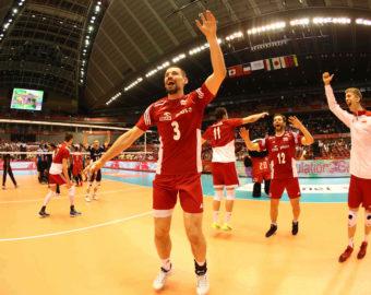 PolandteamcelebratesvictoryoverVenezuela