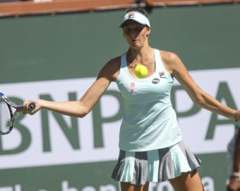 March 17, 2016 - Los Angeles, California, U.S - Karolina Pliskova of Czech in action against Daria Kasatkina of Russia during the women's singles quarterfinals of the BNP Paribas Open tennis tournament on Thursday, March 17, 2016 in Indian Wells, California.  Pliskova won 6-3, 6-2. (Credit Image: © Ringo Chiu via ZUMA Wire)  TENIS  FOT. ZUMA/NEWSPIX.PL  POLAND ONLY !!!