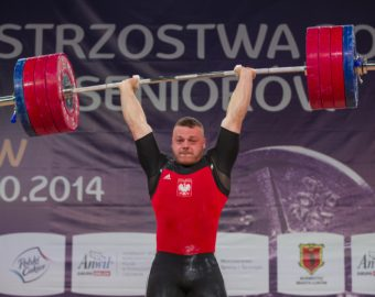 LUKOW 25.10.2014 MISTRZOSTWA POLSKI SENIOROW PODNOSZENIE CIEZAROW KAT. 94  KG --- SENIOR POLISH WEIGHTLIFTING CHAMPIONSHIPS ADRIAN ZIELINSKI FOT. PIOTR KUCZA/NEWSPIX.PL --- Newspix.pl *** Local Caption *** www.newspix.pl  mail us: info@newspix.pl call us: 0048 022 23 22 222 --- Polish Picture Agency by Ringier Axel Springer Poland