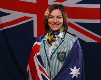 MELBOURNE, AUSTRALIA - JULY 06:  Australian athlete Anna Meares poses at the Stamford Plaza during a portrait session after being announced as the Australian flag bearer for the Opening ceremony of the 2016 Rio Olympic Games, on July 6, 2016 in Melbourne, Australia.  (Photo by Michael Dodge/Getty Images for AOC)