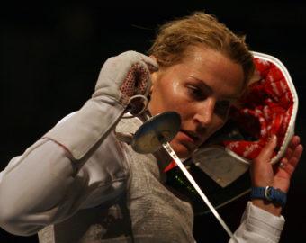 sylwia gruchala floret kobiet pekin olimpiada igrzyska chiny 11-08-2008 fot maciej smiarowski / Newspix.pl