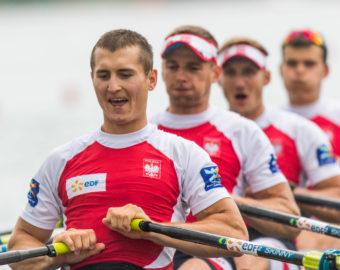 17.06.2016, Poznan , World Rowing world cup / Wioslarstwo Puchar Swiata Tor Regatowy Malta  , N Z Mateusz Biskup, Wiktor Chabel, Dariusz Radosz, Miroslaw Zietarski (POL) M4x  , FOT. Adam Jastrzebowski / newspix.pl --- Newspix.pl *** Local Caption *** www.newspix.pl  mail us: info@newspix.pl call us: 0048 022 23 22 222 --- Polish Picture Agency by Ringier Axel Springer Poland