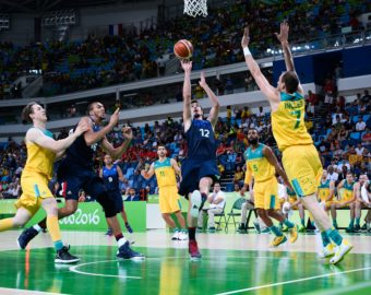 Nando de Colo of France during Basketball game between France and Australia on Olympic Games 2016 at Carioca Arena 1 on August 6, 2016 in Rio de Janeiro, Brazil. (Photo by Nolwenn Le Gouic/Icon Sport) KOSZYKOWKA AUSTRALIA FRANCJA FOT. ICON SPORT/NEWSPIX.PL POLAND ONLY! --- Newspix.pl *** Local Caption *** www.newspix.pl  mail us: info@newspix.pl call us: 0048 022 23 22 222 --- Polish Picture Agency by Ringier Axel Springer Poland
