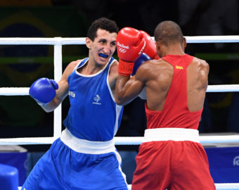 Sofiane Oumiha of France against Robson Conceicao of Brazil during their Men's Light (60kg) Final of Boxing at Riocentro - Pavilion 6 on August 16, 2016 in Rio de Janeiro, Brazil. (Photo by Nolwenn Le Gouic/Icon Sport)  IGRZYSKA OLIMPIJSKIE W BRAZYLII BRAZYLIA FOT.ICON SPORT/NEWSPIX.PL POLAND ONLY!!!  BOKS --- Newspix.pl *** Local Caption *** www.newspix.pl  mail us: info@newspix.pl call us: 0048 022 23 22 222 --- Polish Picture Agency by Ringier Axel Springer Poland
