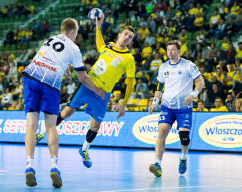 2016.09.20 KIELCE PILKA RECZNA HANDBALL PGNIG SUPERLIGA SEZON 2016/2017 VIVE TAURON KIELCE - SPR STAL MIELEC N/Z  MANUEL STRLEK  FOTO DANIEL KORDOS / PRESSFOCUS  / NEWSPIX.PL --- Newspix.pl *** Local Caption *** www.newspix.pl  mail us: info@newspix.pl call us: 0048 022 23 22 222 --- Polish Picture Agency by Ringier Axel Springer Poland